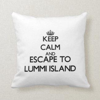 Keep calm and escape to Lummi Island Washington Pillows