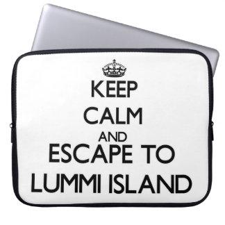Keep calm and escape to Lummi Island Washington Laptop Sleeves