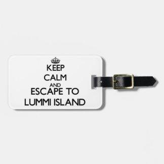 Keep calm and escape to Lummi Island Washington Tag For Luggage