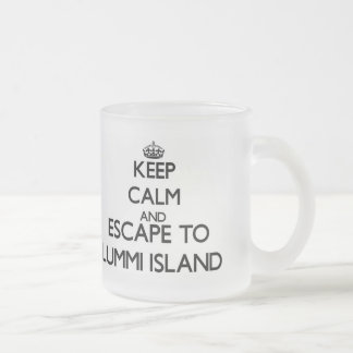 Keep calm and escape to Lummi Island Washington Frosted Glass Mug
