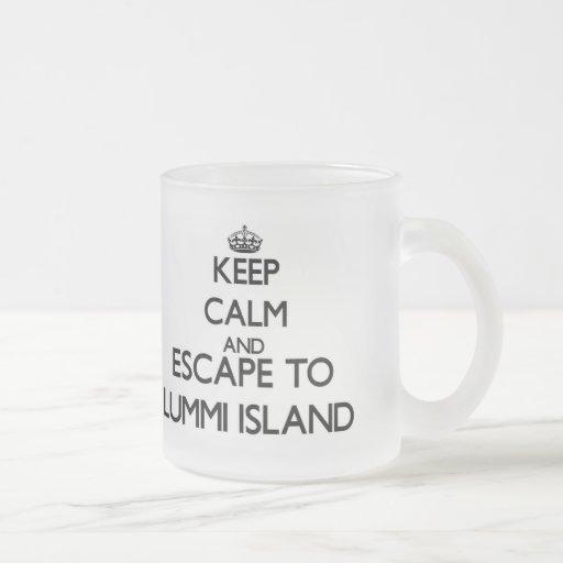 Keep calm and escape to Lummi Island Washington Mugs