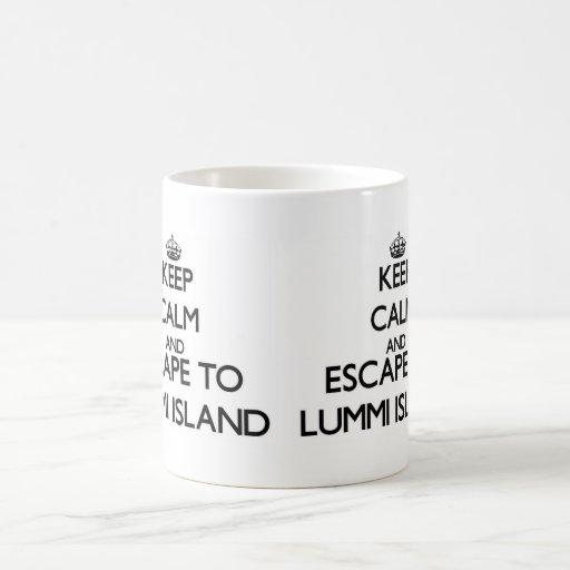 Keep calm and escape to Lummi Island Washington Coffee Mug