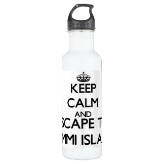 Keep calm and escape to Lummi Island Washington 710 Ml Water Bottle