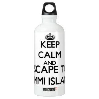 Keep calm and escape to Lummi Island Washington SIGG Traveller 0.6L Water Bottle