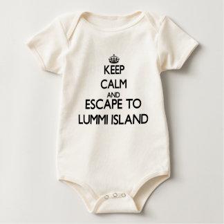 Keep calm and escape to Lummi Island Washington Rompers