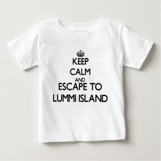Keep calm and escape to Lummi Island Washington Tee Shirts