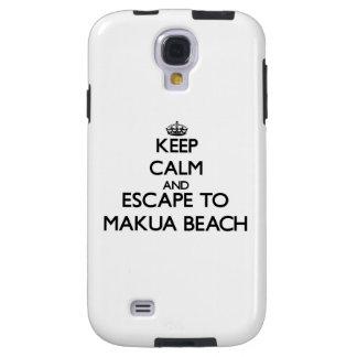 Keep calm and escape to Makua Beach Hawaii Galaxy S4 Case