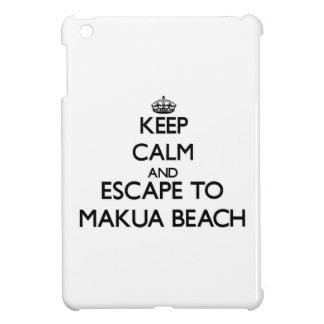 Keep calm and escape to Makua Beach Hawaii iPad Mini Case