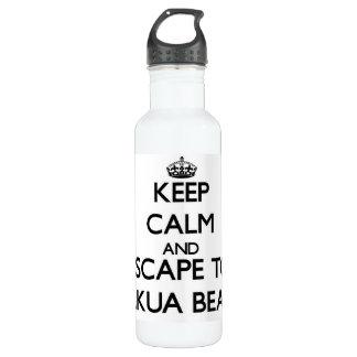 Keep calm and escape to Makua Beach Hawaii 710 Ml Water Bottle