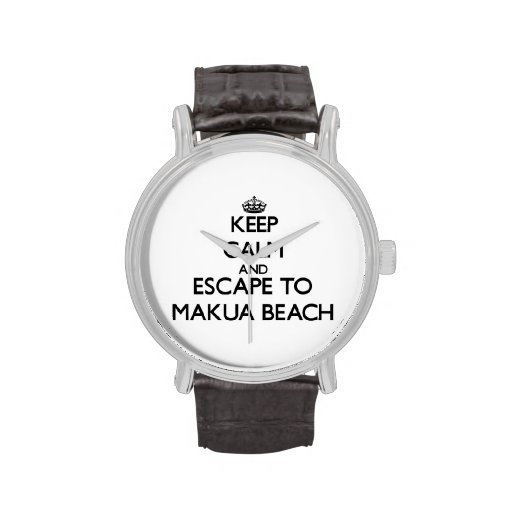Keep calm and escape to Makua Beach Hawaii Watch