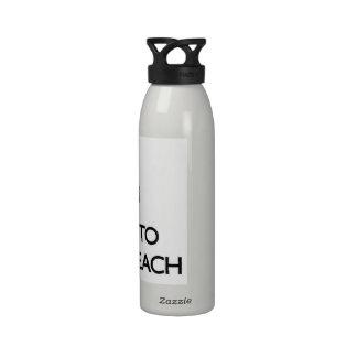Keep calm and escape to Makua Beach Hawaii Reusable Water Bottles