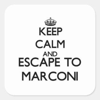 Keep calm and escape to Marconi Massachusetts Square Sticker