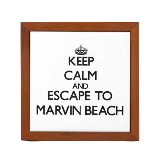 Keep calm and escape to Marvin Beach Connecticut Desk Organizers