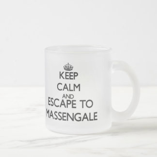 Keep calm and escape to Massengale Georgia Frosted Glass Mug