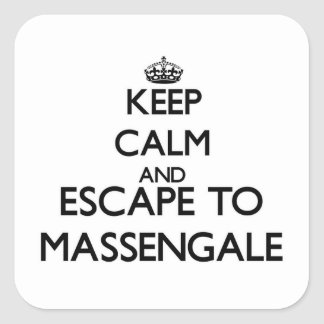 Keep calm and escape to Massengale Georgia Stickers