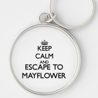 Keep calm and escape to Mayflower Massachusetts Key Chain