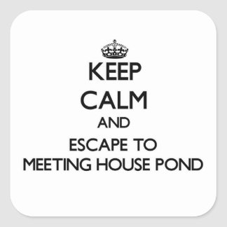 Keep calm and escape to Meeting House Pond Massach Stickers