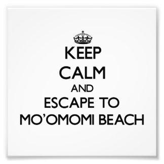 Keep calm and escape to Mo'Omomi Beach Hawaii Art Photo