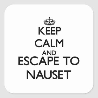 Keep calm and escape to Nauset Massachusetts Square Stickers