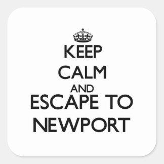 Keep calm and escape to Newport Massachusetts Sticker