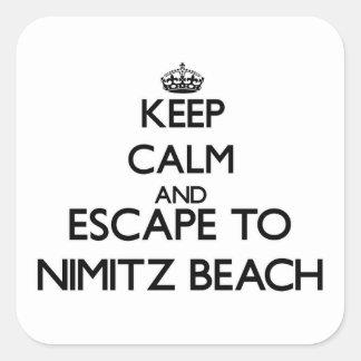 Keep calm and escape to Nimitz Beach Guam Square Sticker