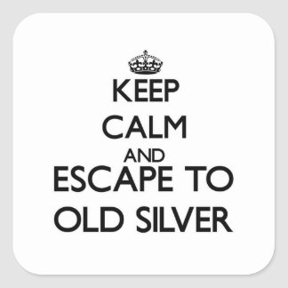 Keep calm and escape to Old Silver Massachusetts Sticker