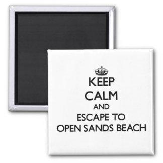 Keep calm and escape to Open Sands Beach Florida Refrigerator Magnet