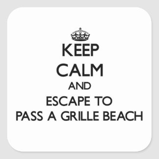 Keep calm and escape to Pass-A-Grille Beach Florid Square Stickers
