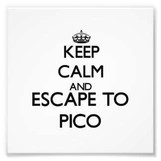 Keep calm and escape to Pico Massachusetts Photographic Print