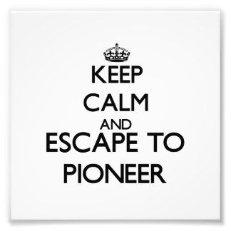 Keep calm and escape to Pioneer Massachusetts Photo Art