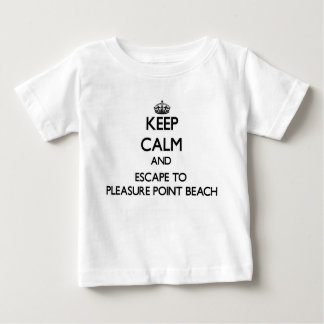 Keep calm and escape to Pleasure Point Beach Calif Tees