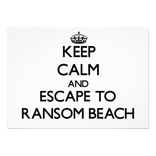 Keep calm and escape to Ransom Beach New York Custom Invites