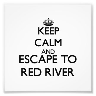 Keep calm and escape to Red River Massachusetts Art Photo