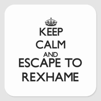 Keep calm and escape to Rexhame Massachusetts Stickers