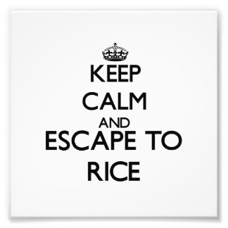 Keep calm and escape to Rice Massachusetts Photo Art