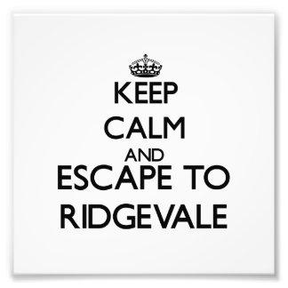 Keep calm and escape to Ridgevale Massachusetts Photo Art