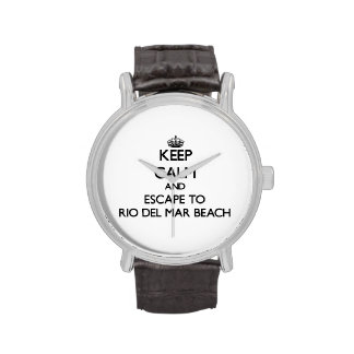 Keep calm and escape to Rio Del Mar Beach Californ Wristwatches