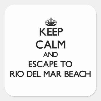 Keep calm and escape to Rio Del Mar Beach Californ Stickers