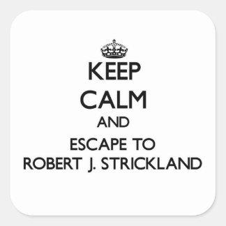 Keep calm and escape to Robert J. Strickland Flori Square Sticker