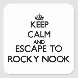 Keep calm and escape to Rocky Nook Massachusetts Sticker