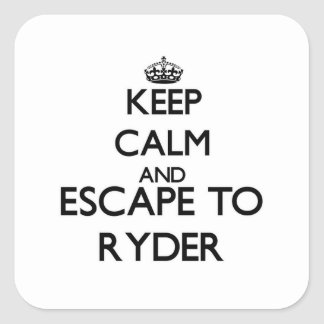 Keep calm and escape to Ryder Massachusetts Stickers