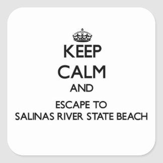 Keep calm and escape to Salinas River State Beach Stickers