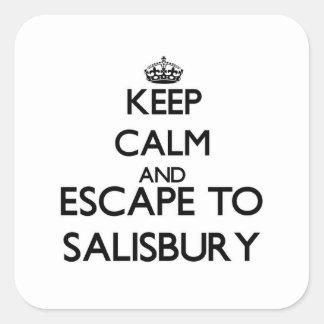 Keep calm and escape to Salisbury Massachusetts Square Sticker