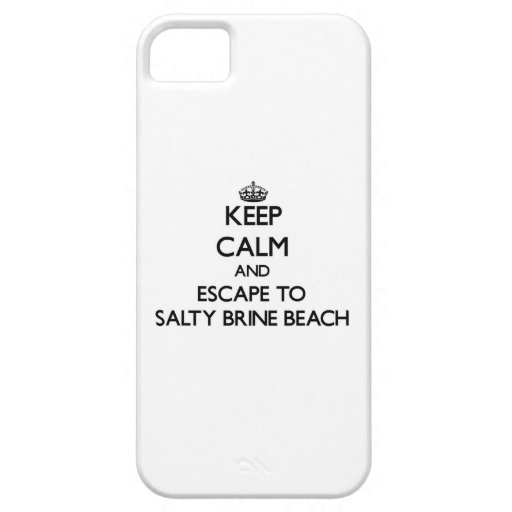 Keep calm and escape to Salty Brine Beach Rhode Is iPhone 5 Cases