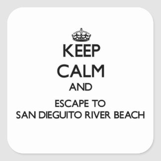 Keep calm and escape to San Dieguito River Beach C Sticker