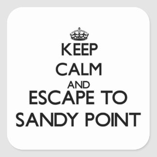 Keep calm and escape to Sandy Point Massachusetts Stickers