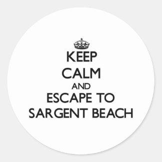 Keep calm and escape to Sargent Beach Texas Sticker