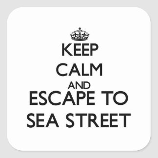 Keep calm and escape to Sea Street Massachusetts Square Sticker
