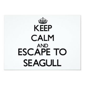 Keep calm and escape to Seagull Massachusetts Invite