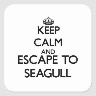Keep calm and escape to Seagull Massachusetts Square Sticker